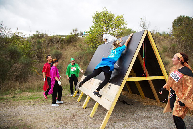 pans inclines course obstacle ninja
