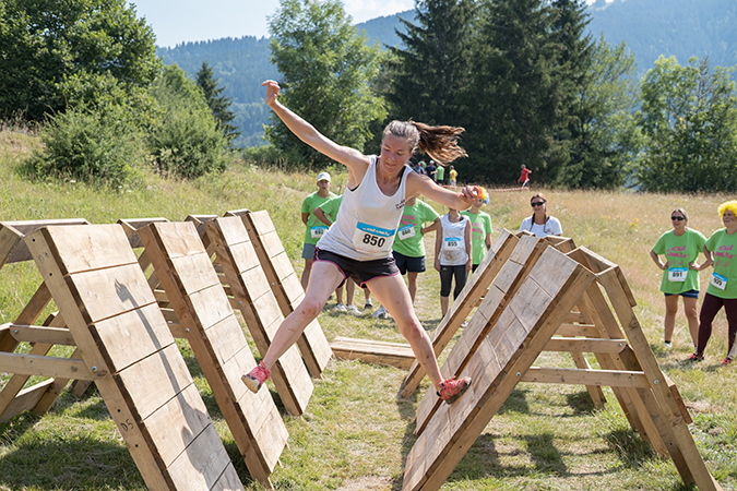 sauter decale course obstacle ninja